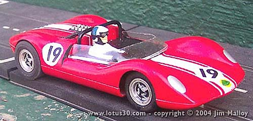 Willment Lotus 30 1/24th scale K&B model by Jim Malloy