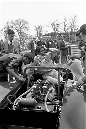 Even Jimmy Clark had his days in the Lotus 30. Photo Courtesy of Ford Motor Company.